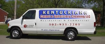 Photo of Kentuckiana Carpet and Upholstery Cleaning LLC's company van.